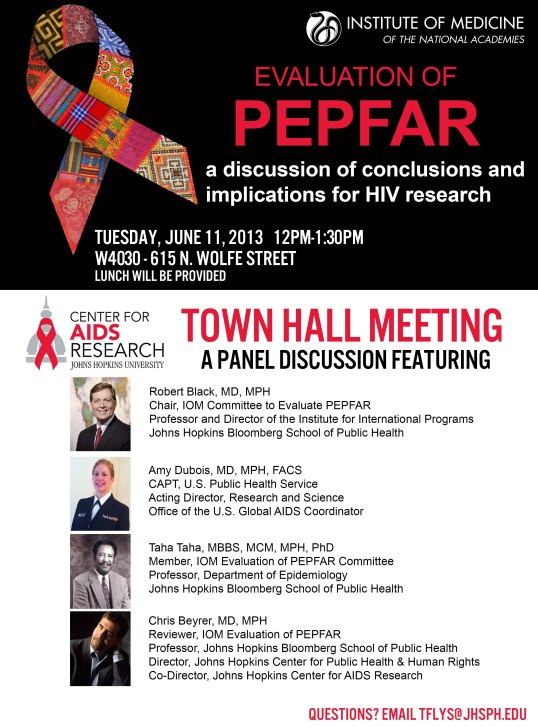 June 11 2013 PEPFAR Town Hall Flyer